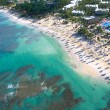 Stock Photo: Tropical beach from helicopter view