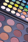 Neutral and multicolour eyeshadows palettes — Stock Photo