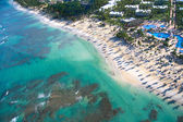 Tropical beach from helicopter view — Stock Photo