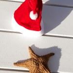 Caribbean christmas hat — Stock Photo