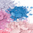 Stock Photo: Colour crumbled eyeshadows