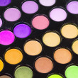 Professional multicolor eyeshadows palette - Foto Stock