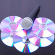 Microphone on discs - Stock Photo