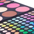 Professional make-up eyeshadows - Stock Photo