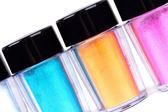 Tubos com sombras de cor profissional — Foto Stock