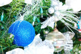 New year tree with balls — Stock Photo