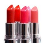 Five lipsticks on white — Stock Photo