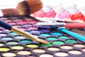 Professional make up tools on white — Stock Photo
