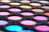 Closed-up proffesional eyeshadows — Stock Photo