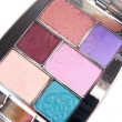 Foto Stock: Eyeshadows on white