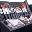 Professional make-up case full of make-up tools — 图库照片