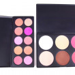 Stock Photo: Two eye shadows palettes