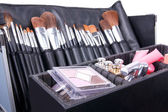 Professional make-up case full of make-up tools — Stockfoto