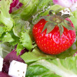 Stock Photo: Strawberry in fresh salad