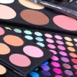 Stock Photo: Professional make-up eyeshadows palettes