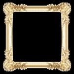 Golden frame isolated on white — Stock Photo