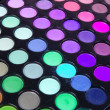 Multicolour eyeshadows palette - Stockfoto