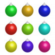 Multicolour new year balls — Stock Photo