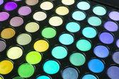 Vícebarevného make-up eyeshadows paleta — Stock fotografie