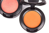 Professional eye shadows in round box — Stock Photo