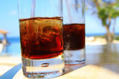 Occhiali con cocktail — Foto Stock