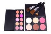 Make-up corrector and eyeshadows palettes — Stock Photo
