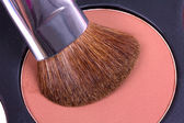 Professional make-up brush on corrector palette — Stock Photo