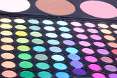 Professional make-up eyeshadows and corrector palettes — Stock Photo