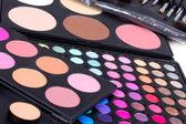 Professional make-up eyeshadows palettes — Stock Photo
