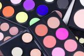 Different eyeshadows palettes — Stock Photo
