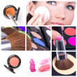 colagem de make-up — Foto Stock