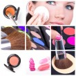 collage di make-up — Foto Stock