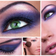 Stock Photo: Smoky eyes collage