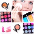 Make-up collage — Stock Photo