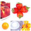 Fruits collage - Stock Photo