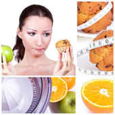 Diet collage — Stock Photo