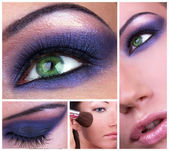 Smoky eyes collage — Stock Photo