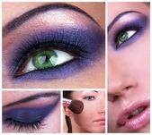 Smoky eyes collage — Stock Photo