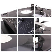 Dj turntable collage — Stock Photo