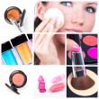 Stockfoto: Make-up collage