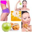 Royalty-Free Stock Photo: Diet choice collage