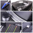Dj equipment collage - Stock Photo
