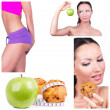 Diet collage — Stock Photo #4917448