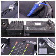 Dj table collage - Stock Photo