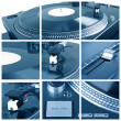 Stock Photo: Turntable collage