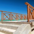 Stock Photo: Wooden pier on caribbebeach