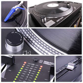 Dj equipment collage — 图库照片