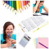 Education collage — Stock Photo