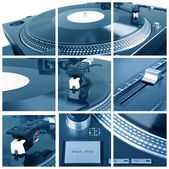 Turntable collage — Stock Photo