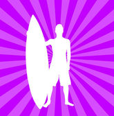 Illustration of surfer — Stock Photo